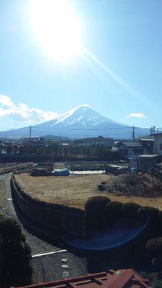 実家から見た富士山(Fuji seen from my house)