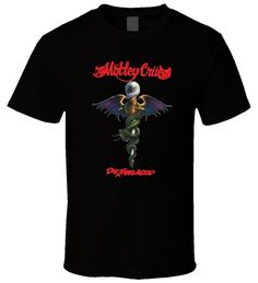 Motley Crue Dr Feelgood POAAQ Black Men T Shirt Size S - 6XL #AlstyleApparel…