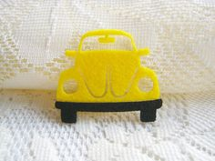 Iron on Applique Cute Yellow Beetle , kid, woman, toy, baby, shirt, skirt, baby shower, felt applique, Car, gift by PeacyStudio on Etsy https://www.etsy.com/listing/116220449/iron-on-applique-cute-yellow-beetle-kid