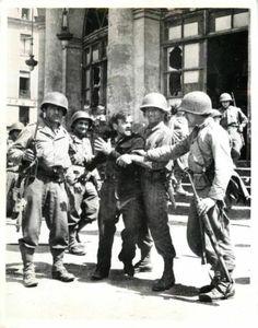 WWII U s Soldiers Restrain French Patriot from Nazi Prisoners Orig Press Photo | eBay