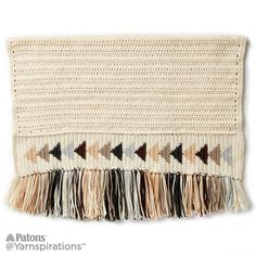 Flying Geese Crochet Blanket