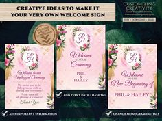 Use our custom Wedding Sign, from the Floral Galore Welcome Signages collection, to make that first impression : A creatively designed Indian wedding signage! This large signage, a perfect mix of pastel hues Pastel Wedding Invitations, Wedding Stationery, Sikh Wedding, Boho Wedding, Wedding Decor, Wedding Signage, Wedding Venues, Place Card Template, Ceremony Signs