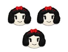 Princess Snow applique embellishment felties 3 by EmbroiderThat, $3.25