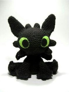 Free Toothless from 'How to Train Your Dragon' amigurumi pattern
