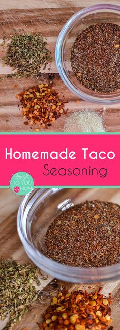 Homemade Taco Seasoning Mix  with just enough spice for your taco night.