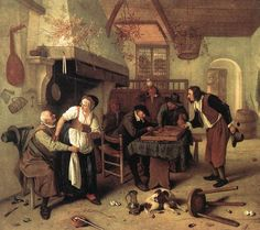 """""""Two kinds of games"""" by Jan Steen"""