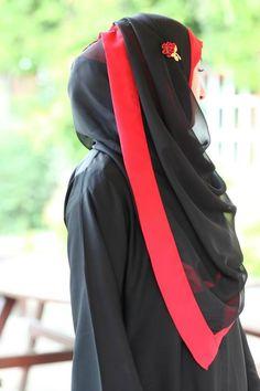 Double hijaab style.