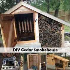 Once upon a time every home had a DIY smokehouse in the backyard. The homemade smokehouse was used as a meat smoker and food smoker to preserve the food raised… Smoke House Diy, Smoke House Plans, Outdoor Projects, Diy Projects, Space Projects, Diy Smoker, Home Smoker, Homemade Smoker, Outdoor Cooking