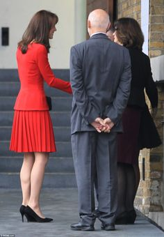 Upon arrival at the Anna Freud Centre, The Duchess of Cambridge was greeted by the charity...