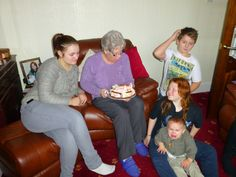 ..... with the grandkids - Taylor wants the cake