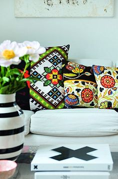 embroidered sofa cushions