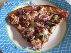 Pizza zabpehellyel (Gluténmentes) Hawaiian Pizza, Biscotti, Vegetable Pizza, Baked Potato, Tacos, Food And Drink, Potatoes, Baking, Vegetables