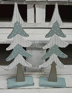 Dekorácia drevený stromček ::::: Wood tree xmas vintage