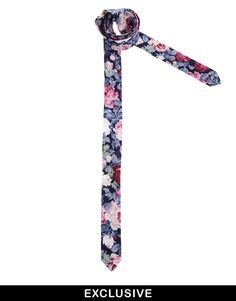 $28, Multi colored Floral Tie: Reclaimed Vintage Floral Tie. Sold by Asos. Click for more info: http://lookastic.com/men/shop_items/56095/redirect
