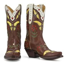Back at the Ranch - Women's - Madam Butterfly - Hand Made Boot - Brown : Womens Boots | Sweetheart Womens Boots Click to buy new with discount price