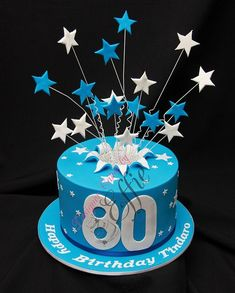 255 Best Cakes 80th Birthday Images On Pinterest Anniversary Square Cake Small