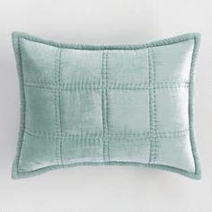 Green Jadeite Luxe Velvet Pillow Shams Set of 2