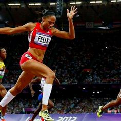 Allison Felix winning gold! One of my personal role models.