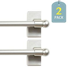 VERSAILTEX Magnetic Curtain Rods for Metal Doors Top and Bottom Set of 2 Multi-Use Adjustable Appliances for Iron and Steel Place, Petite Ball Ends, 16 to 28 Inch, Inch Diameter, Black Patio Door Curtains, French Door Curtains, Curtain For Door Window, Drapes Curtains, Magnetic Curtain Rods, Decorative Curtain Rods, Drapery Holdbacks, Champaign Gold, Window Rods