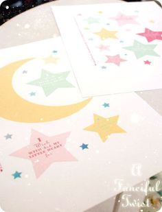 "Stars and moon printable for ...garland, wreath or magic wand. Say...."" I Wish with my little heart"""