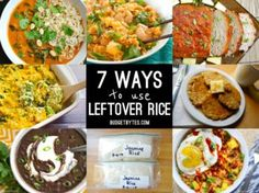 Got leftover rice? Make sure it doesn't go to waste by using one of these 7 ways to use leftover rice. BudgetBytes.com