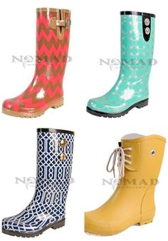 Fun and Comfy Rainy Day Fashion from Nomad Footwear