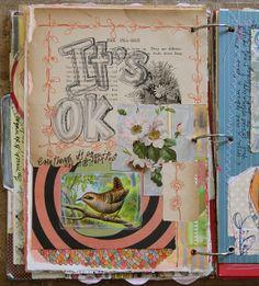 Art journal inspiration: Art journal by Pam Garrison on Flickr