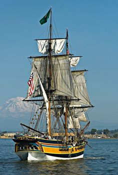 Four tall ships will arrive on Steveston this weekend as part of the Ships To Shore 2011 festival. Model Sailing Ships, Old Sailing Ships, Hms Hood, Full Sail, Abandoned Ships, Whitewater Kayaking, Wooden Ship, Canoe Trip, Tug Boats