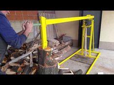как сделать дровокол своими руками how to make log splitter - YouTube