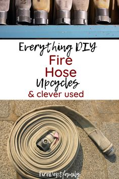 Everything DIY and lots of clever upcycles for Fire Hose! Because when its no longer rated to hold water and fight fire it needs a new lease on life, thats where you come in! See different options for things you can make, learn about where to get fire hose, and create some really cool upcycled firefighter hose projects! Fire Hose Projects, Fire Hose Crafts, Firefighter Training, Firefighter Family, Fire Dept, Fire Department, Do It Yourself Crafts, Crafts To Make, Crazy Life