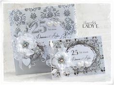 Scrap Art by Lady E: Silver Wedding Anniversary Album & Card