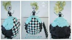 Monster high doll cake Lagoona