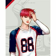 Find images and videos about exo, kai and fanart on We Heart It - the app to get lost in what you love. Chanyeol Baekhyun, Exo Kai, Park Chanyeol, Exo Anime, Anime Guys, Kai Arts, Chibi, Exo Stickers, Future Boy