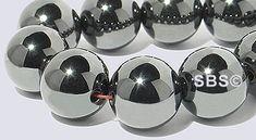 Magnetic Hematite 10mm (round) AAA Grade beads.