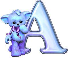 Alfabeto Decorativo: Alfabeto - Gatinho - PNG - Maiúsculas e Minúsculas...