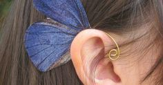 Just Pinned to Blue: Green Pencil Blue Butterfly Ear Cuff Jewelry by NightLilyDesign $12.00 http://ift.tt/2oZdpNT