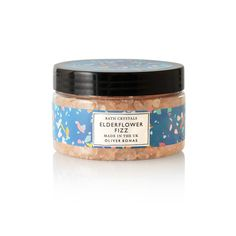 In need of a little pampering? Celebrate your time-out with the Elderflower Fizz Bath Crystals Bath Crystals, Print Packaging, Elderflower, Private Label, Baking Ingredients, Cookie Dough, Bobs, Caramel, Floral Tops