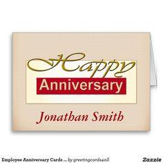 Employee Anniversary Cards Customizable