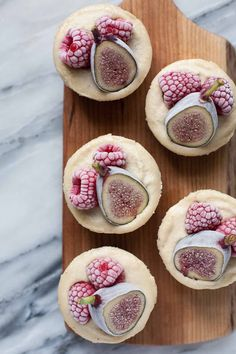 Vanilla Bean Cheesecakes with Figs and Raspberries - A Calculated Whisk