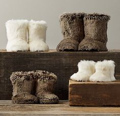 Where the Fish Live: Restoration Hardware: Faux Fur For Christmas Restoration Hardware Baby, Baby Boots, Having A Baby, Future Baby, Baby Items, Baby Love, To My Daughter, Cute Kids, Baby Kids