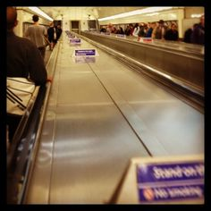 The longest #escalator in #London town. Guess how long it is?