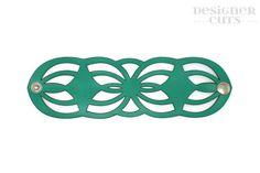 Corte del laser pulsera brazalete de cuero diseño por designercuts