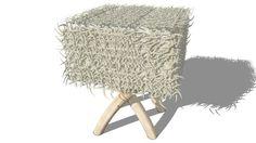 Visualização grande do modelo 3D de tabouret, maisons du monde, ref 131647 prix 99€