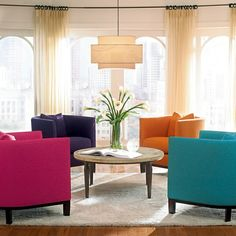 201 best colorful interiors images on pinterest in 2018 livingcolor blocking your interiors colourful living roombright roomscolorful chairsunique