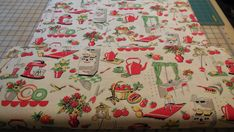 Fifties Kitchen  Michael Miller Fabric 1 Yard by Grannybevsvintage