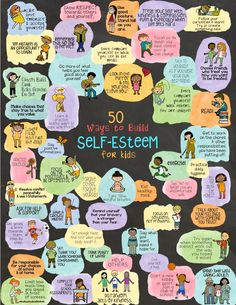 "Although the dictionary says that self-esteem is a noun, I prefer to think of it as a verb. Self-esteem is an ACTION. We have to PRACTICE and DO self-esteem to have self-esteem. Backed by evidence-based research, The ""50 Ways to Build Self-Esteem To-Do List"" that is included in this fortune teller package will help young (and older) people devise a plan-of-action to step into their power and start Self-Esteeming! Kids Coping Skills, Social Skills For Kids, Social Work, Kids Mental Health, Social Emotional Learning, School Counseling, Kids Education, Kindergarten, Self Esteem"