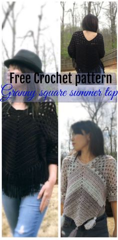 Free crochet pattern-Granny square summer top.