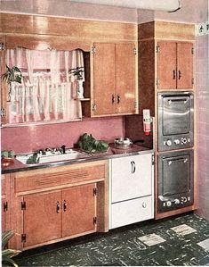 Better Homes Gardens 1950u0027s Kitchen | 1954   Better Homes And Gardens Pink  Kitchen. 1950s