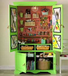 Upcycled Craft Armoire
