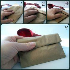 folding the popcorn bag